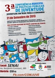 Cartaz III Conferência Municipal da Juventude