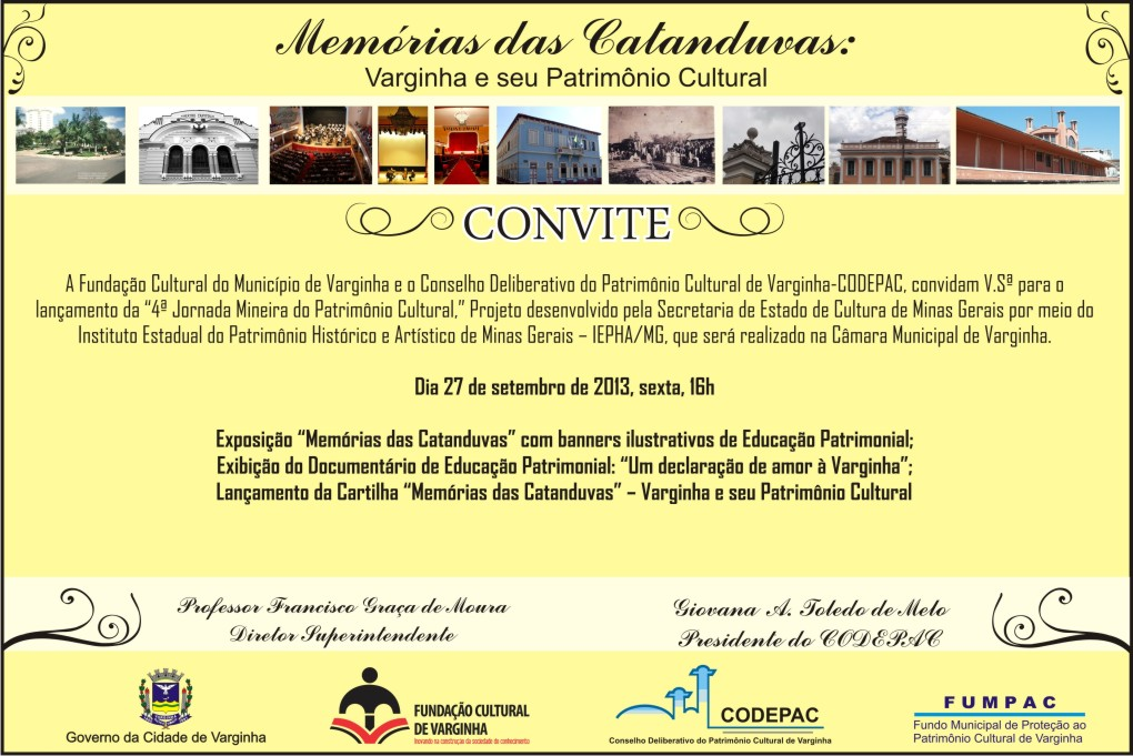 Convite Jornada Patrimônio Cultural