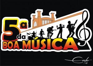Logomarca Quinta da Boa Música P&B