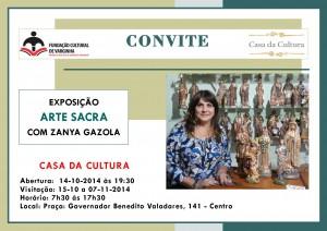 Convite Zanya Gazola 15 10 2014