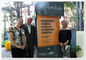 No Gabinete e na entrada da sede da CASA DA ECONOMIA CRIATIVA – Belo Horizonte-MG