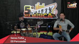 Senso Folha e DD Percussão participam da live do 5ª da Boa desta semana