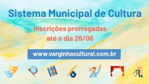 Inscrições no Sistema Municipal de Cultural de Varginha são prorrogadas
