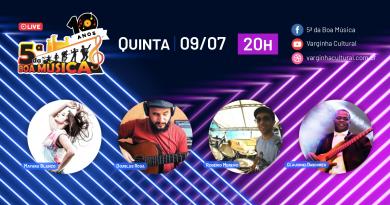 Live do 5ª da Boa Música desta semana é com Mayara Blanco & banda