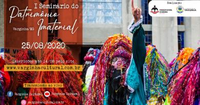 Inscrições abertas para a edição online do I Seminário de Patrimônio Imaterial de Varginha