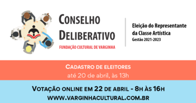 Eleição de representante da classe artística no Conselho da Fundação Cultural acontece na próxima semana