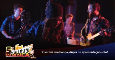 5ª da Boa Música recebe inscrições de bandas para apresentações em lives