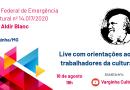 Live orienta trabalhadores da cultura de Varginha sobre inscrição no edital da Lei Aldir Blanc
