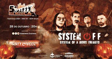 Banda System Off toca na live de Halloween do 5ª da Boa Música